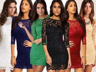 Кружевные платья фото