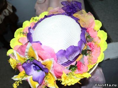 Детская шляпа-цветок своими руками